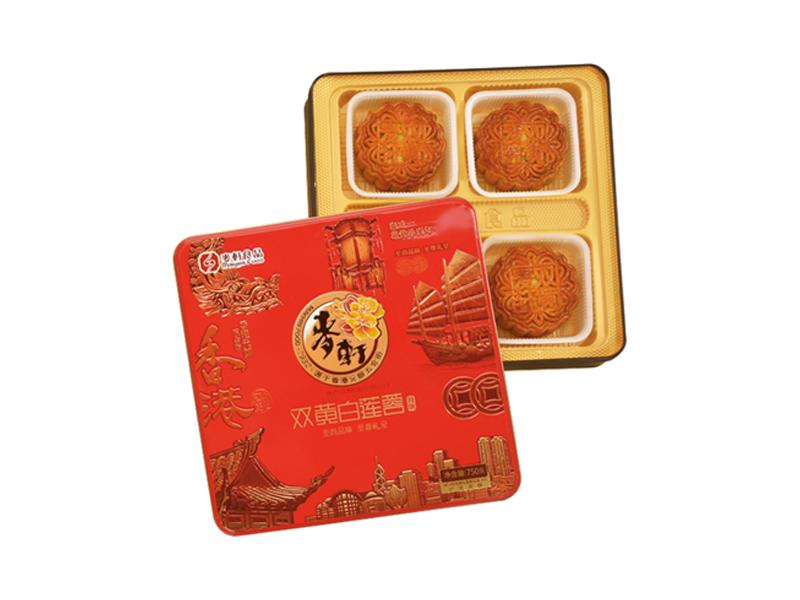 麦轩月饼-双黄白莲蓉750g