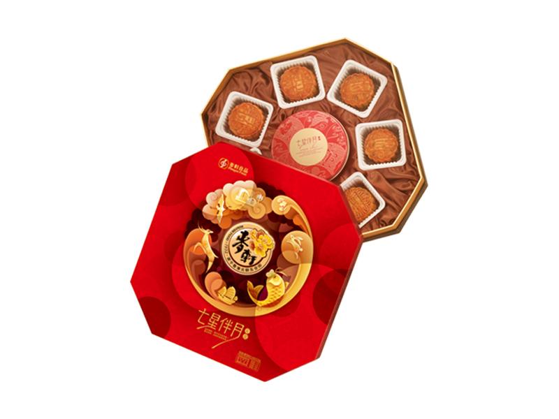 麦轩月饼-七星伴月礼盒887.5g